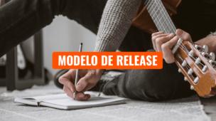 Modelo de Release para Cantor ou Banda